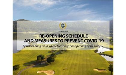 Lịch mở cửa trở lại và biện pháp phòng chống dịch của sân Golf Chí Linh
