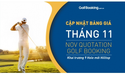 PRICE LIST OF GOLF BOOKING FOR NOVEMBER 2020