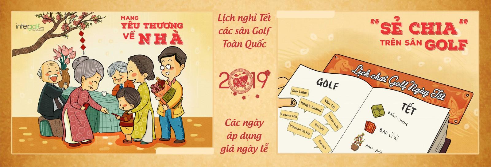 Thông báo lịch nghỉ lễ & Ngày áp dụng giá ngày lễ các sân golf Toàn Quốc