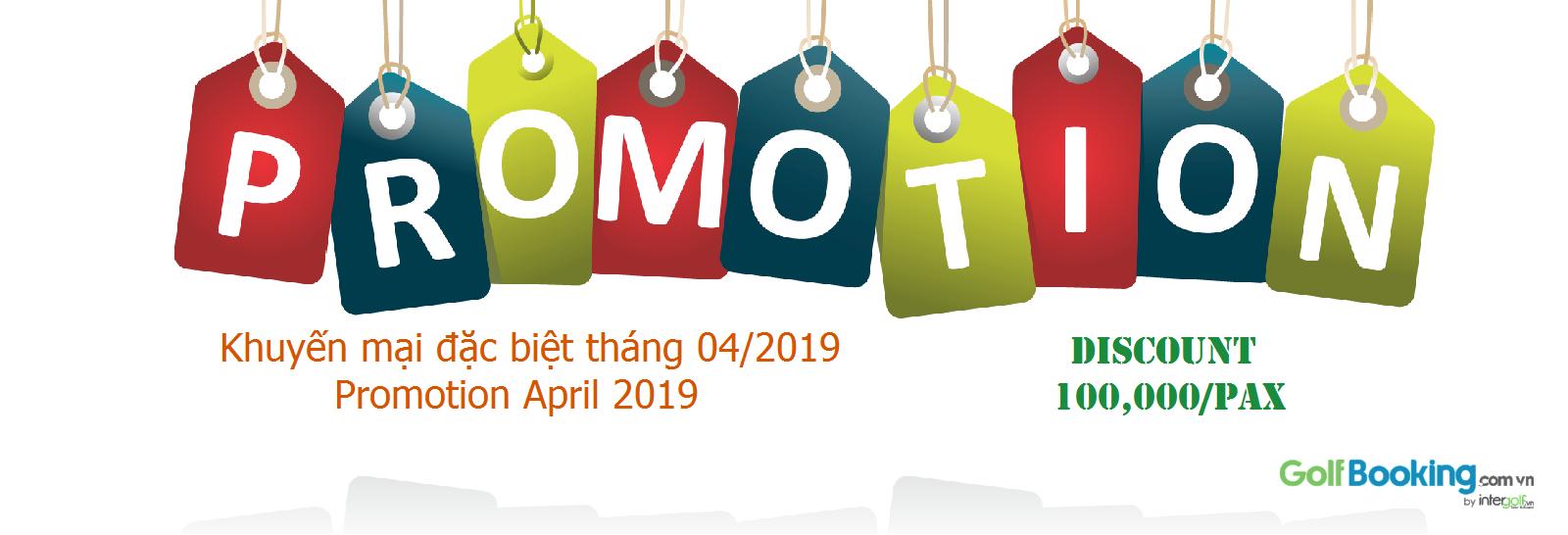 Siêu khuyến mại booking golf tháng 04/2019